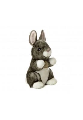 Aurora - Плюшено сиво зайче 20см за подарък