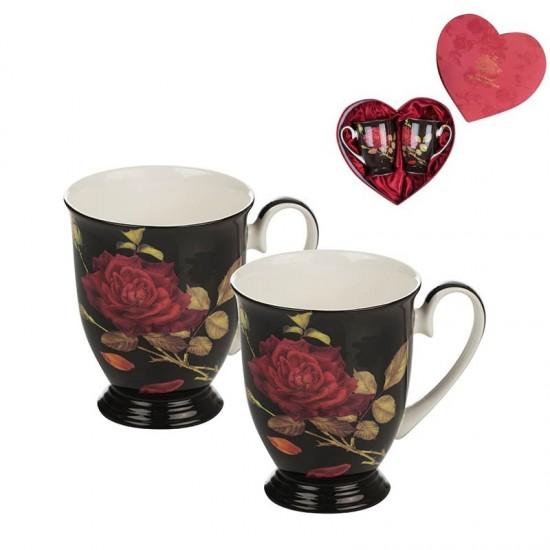 Комплект 2 порцеланови чаши за кафе и чай Lancaster 974520
