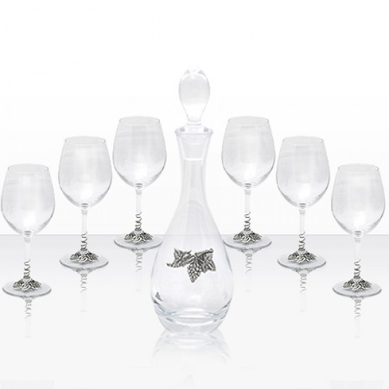 Комплект гарафа с 6 чаши за вино Freitas & Dores F05422