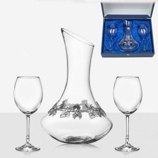 Комплект декантер с 2 чаши за вино Freitas & Dores F31756