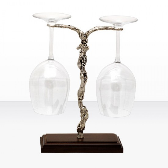 Комплект 2 чаши за вино с луксозна стойка Freitas & Dores F40186