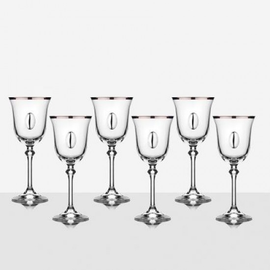 Комплект 6 чаши за вино Brigitta GA Italy VMP0401