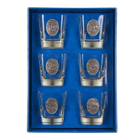 Комплект 6 чаши за уиски с кораб Freitas & Dores DG022