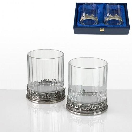 Комплект 2 кристални чаши за уиски Freitas & Dores F005211