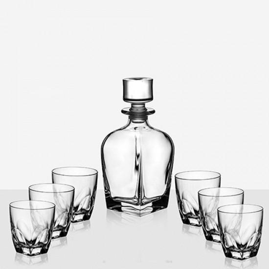 Комплект гарафа за уиски с 6 чаши Diamante RCR Italy 620512