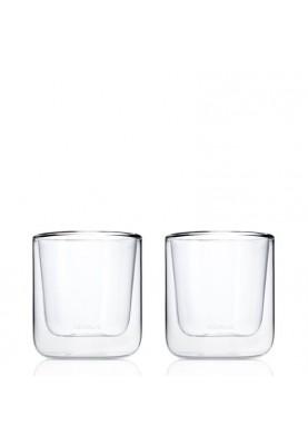 Луксозни стъклени чаши за кафе Blomus Nero