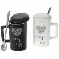 Чаши за кафе с надпис Обичам те на различни езици