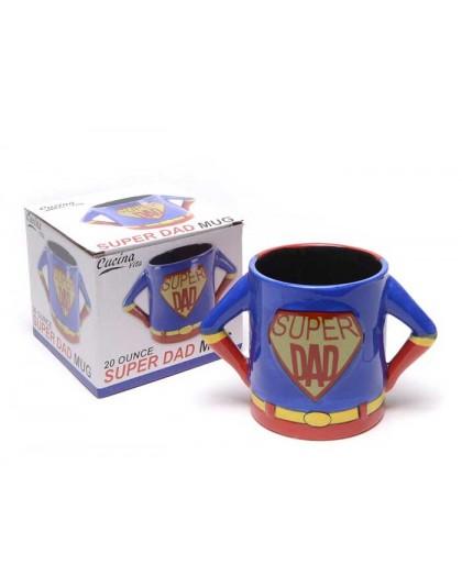 Подарък за баща - Забавна чаша за кафе Super Dad