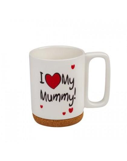 Подарък за мама - Порцеланова чаша с текст I Love My Mummy