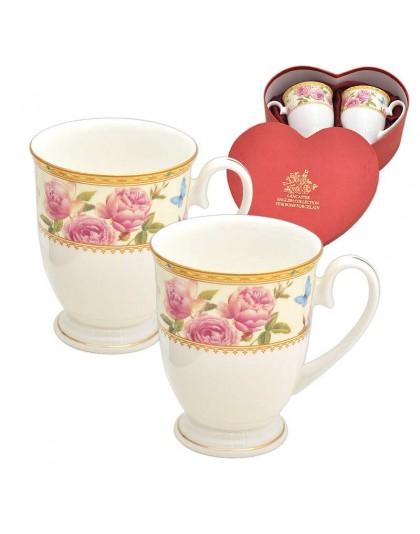 Порцеланови чаши за кафе с рози Lancaster 974720