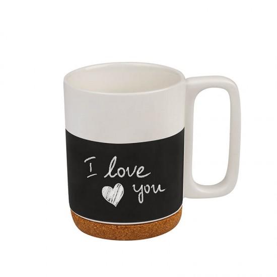 Романтична чаша за кафе за рисуване с тебешир