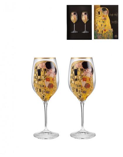 Чаши за бяло вино Целувката на Климт