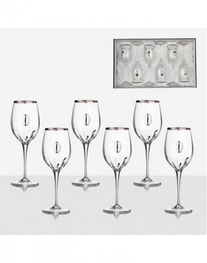 Чаши за вино от кристалин 6 бр. Monalisa VMP1101