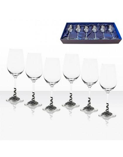 Комплект 6 луксозни чаши за бяло вино Freitas & Dores AGL1646