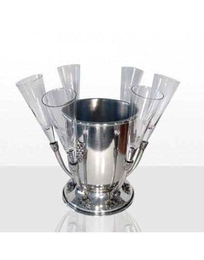 Комплект ледарка с 6 чаши за бяло вино Freitas & Dores F30418