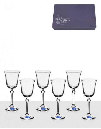 Сервиз 6 чаши за вино GA Cristal Brigitta Liscio VM1001