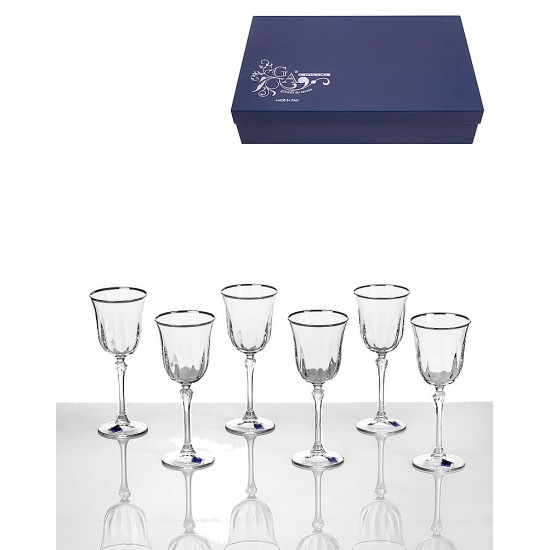 Сервиз 6 чаши за вино GA Cristal Ludovica VM0101