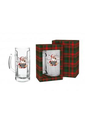 Коледна чаша за бира - Подарък за мъж за Коледа и Нова Година