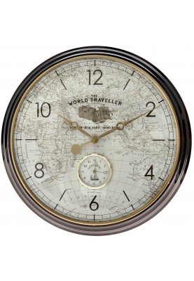 Метален часовник за стена