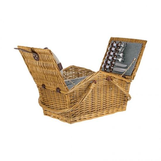Плетена кошница за пикник за четирима 86028585