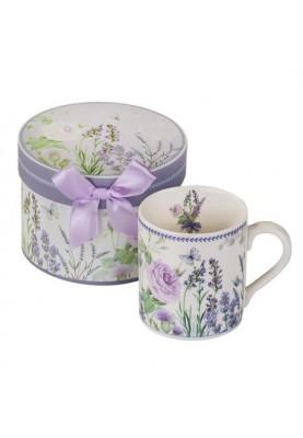 Красива чаша за кафе и чай с декорация лавандула