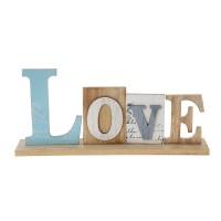 Дървен надпис Love