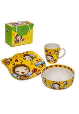 Детски порцеланов комплект пчеличка от 3 части