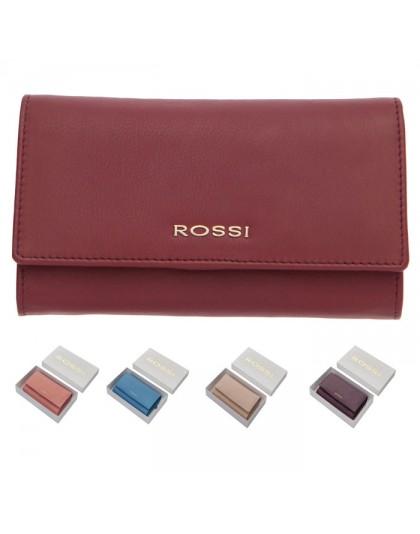 Дамско портмоне от естествена кожа Rossi RSL081 в 15 цвята