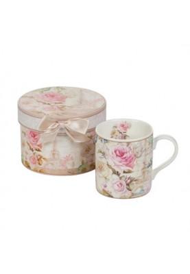 Луксозна чаша за кафе и чай за жена с декорация рози