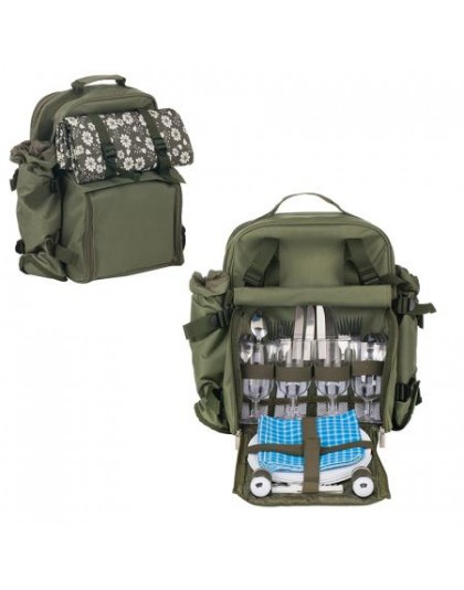 Picnic backpack for four