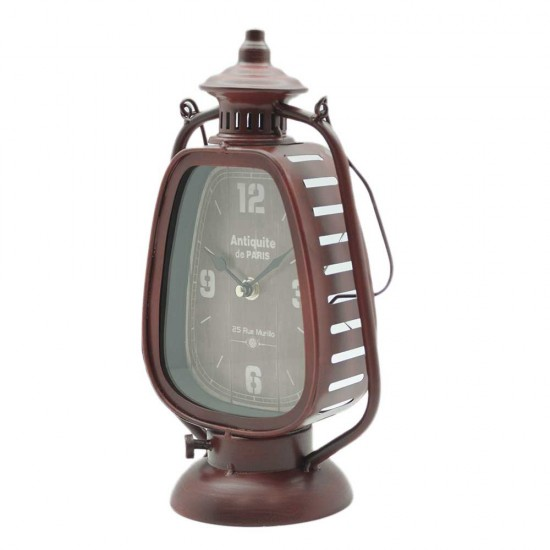 Clock with gas lamp design