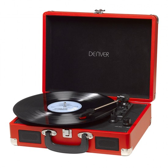 Portable retro turntable with USB and speakers