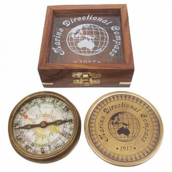 Compass Sea Club Antic in luxury wooden box SC8521