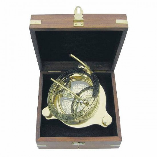 Compass Sea Club Sundial SC9030 in wooden box