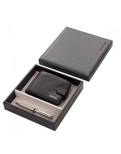 Мъжки портфейл от естествена кожа и химикал SFS-009