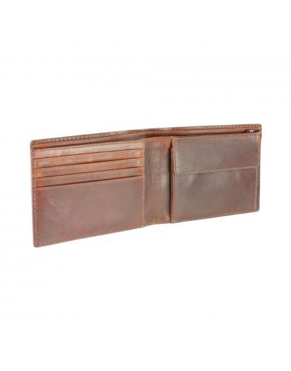 Кафяв мъжки портфейл от естествена кожа Mano M20003BR