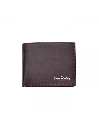 Кафяв мъжки портфейл от естествена кожа Pierre Cardin PCL02328