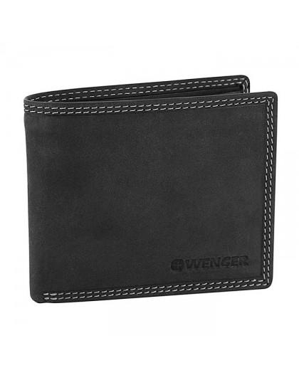 Мъжки портфейл от естествена кожа Wenger W5-09-BK
