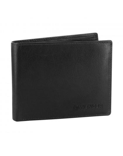 Мъжки портфейл от естествена кожа Wenger W7-05-BK