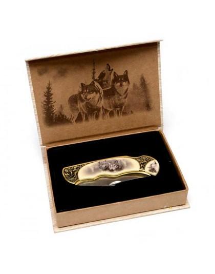 Джобен нож Wild Life Bulgaria с декорация вълци 82615