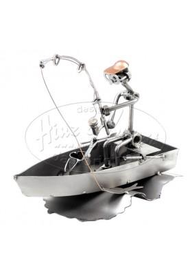 Подарък за рибар - Фигура на рибар в лодка Hinz & Kunst