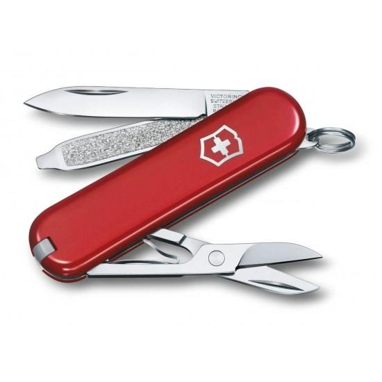Victorinox Classic 0.6223 Швейцарски джобен нож, червен цвят