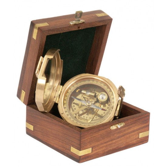 Trinidad compass in a wooden box