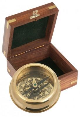 Ретро компас в стилна дървена кутия Havanna