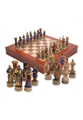 Луксозен шах с фигури кръстоносци
