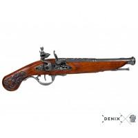 Декоративен английски пистолет Flintlock от 18 век