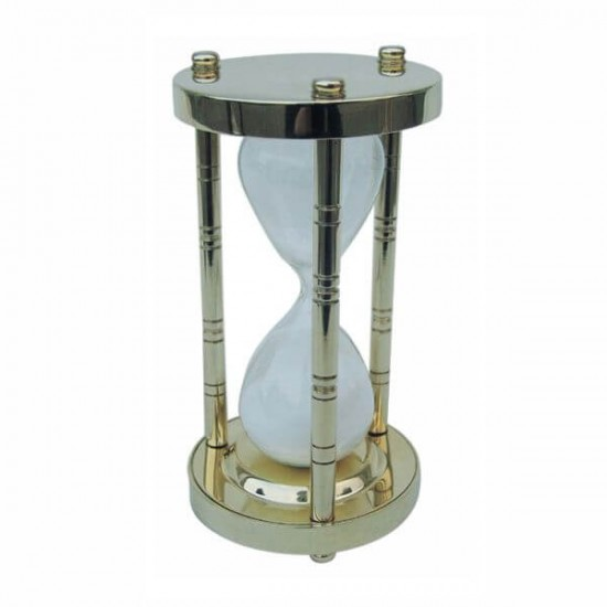 Hourglass for 15 minutes from brass Sea Club SC9181